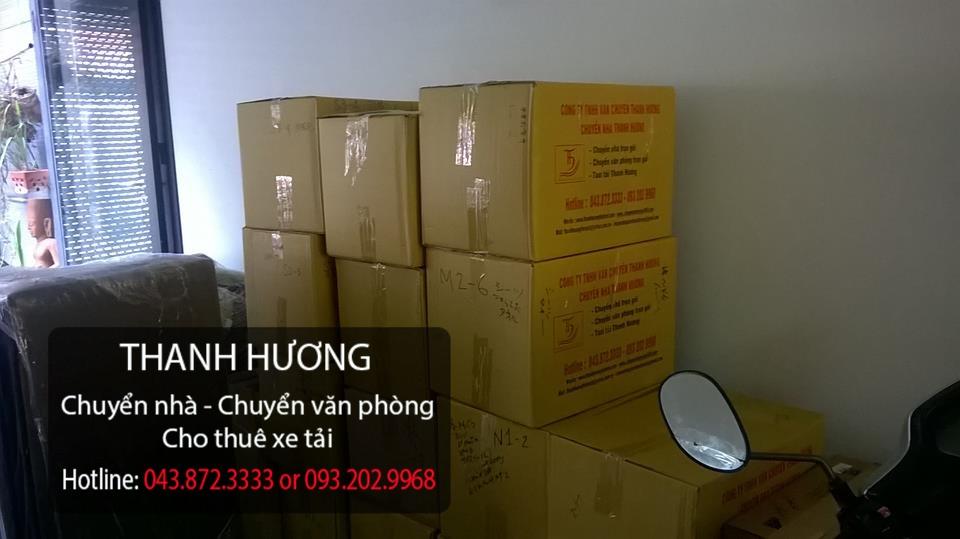 Quy cách đóng thùng vận chuyển cho văn phòng tại phố Trần Hòa
