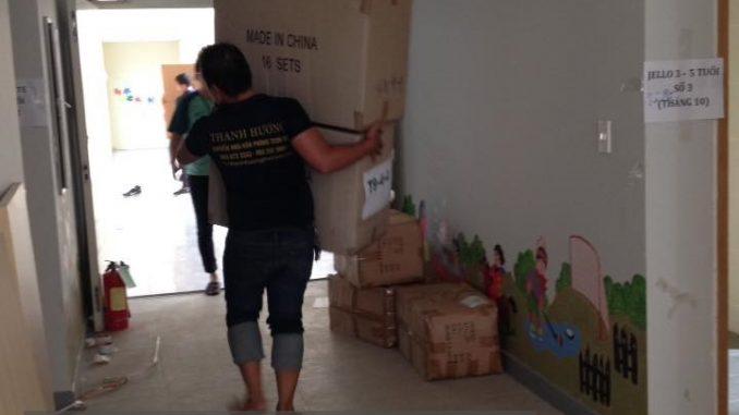 Dịch vụ chuyển văn phòng giá rẻ tại phố Đức Giang