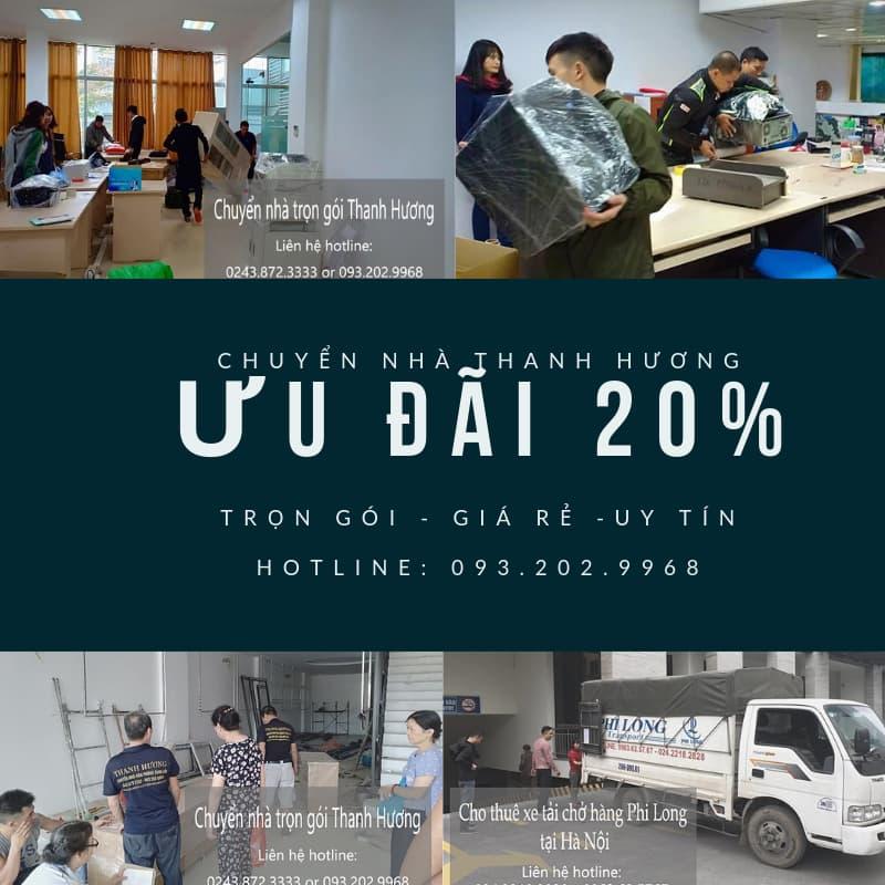 Chuyển văn phòng giá rẻ tại phố Phú Gia giảm 20%
